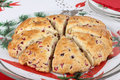 Christmas Cranberry Scone Royalty Free Stock Photo
