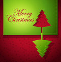 Christmas creative paper art - vector illustration Royalty Free Stock Photography