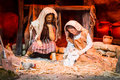 Christmas creche with joseph and mary Stock Photos
