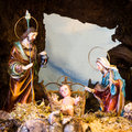 Christmas creche Royalty Free Stock Photo