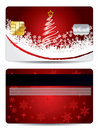 Christmas credit card design Royalty Free Stock Photos