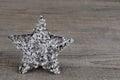 Christmas crystal star Royalty Free Stock Photo