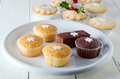 Christmas Cupcakes and Mince Pies Stock Photos