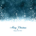 Christmas dark blue abstract background winter with snowflakes and sparkles Royalty Free Stock Photo