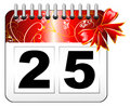 Christmas day calendar icon Stock Image