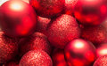 Christmas deco red decoration on full frame Stock Image