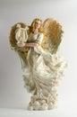 Christmas decor (ceramic angel) Royalty Free Stock Photo