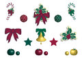 Christmas decor set of on white background Stock Images