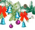 Christmas decor on a white background new year s decorations Stock Photo