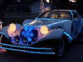 Christmas decorated phantom zimmer luxury car a u s neo classic automaker that used to build just a few cars per year snowman Royalty Free Stock Image