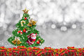 Christmas decoration on abstract background.merry Christmas and happy new years background. card idea. Royalty Free Stock Photo
