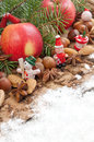 Christmas decoration with apple Royalty Free Stock Photo