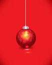 Christmas decoration background red vector Stock Photography