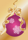 Christmas decoration ball and tinsel Royalty Free Stock Photo