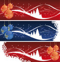 Christmas Decoration banners Stock Photos