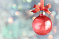 Christmas Decoration - Beautiful bokeh bauble background Royalty Free Stock Photo