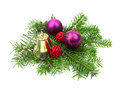 Christmas decoration with bell and ball Stock Photography
