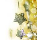 Christmas decoration border Stock Image