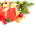 Christmas decoration border Royalty Free Stock Images