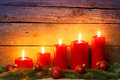 Christmas decoration with candle Royalty Free Stock Photo