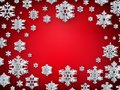 Christmas decoration card template made of paper snowflakes with copyspace. EPS 10