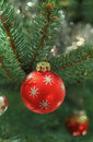 Christmas decoration on christmas tree Royalty Free Stock Images