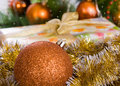Christmas decoration decorations on a background of a gift theme new year Stock Photography