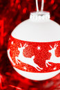 Christmas decoration with deer ornament Stockfoto