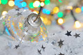 Christmas decoration and defocused lights Stock Images