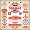 Christmas decoration design elements Royalty Free Stock Photo