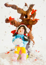 Christmas decoration doll model. Royalty Free Stock Photo