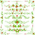 Christmas decoration easy to edit vector illustration of Royalty Free Stock Photos