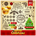 Christmas decoration elements set Royalty Free Stock Photos