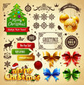 Christmas decoration elements set Royalty Free Stock Image