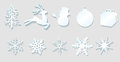 Christmas decoration elements Royalty Free Stock Photo