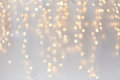 Christmas decoration or garland lights bokeh Royalty Free Stock Photo