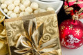 Christmas Decoration And Golde...