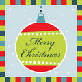 Christmas decoration greeting card Royalty Free Stock Image