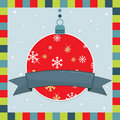 Christmas decoration greeting card Stock Photography