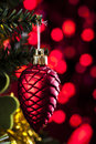 Christmas Decoration Hanging on Tree Stock Photography