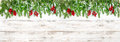 Christmas decoration Holidays background Pine tree branches red Royalty Free Stock Photo