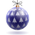 Christmas decoration illustration of blue ball as Stock Image