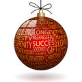 Christmas decoration illustration of red ball as Royalty Free Stock Image