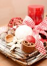 Christmas decoration interior home on the table Royalty Free Stock Photo
