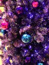 Christmas decoration isolated of many kinds. Red and gold and silver ornaments hanging on Christmas tree. Christmas tree and