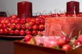 Christmas decoration made of cherries Stock Images