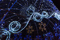 Christmas decoration made of led lights Royalty Free Stock Photo