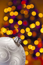 Christmas Decoration and out of focus highlights Royalty Free Stock Image