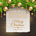 Christmas decoration and paper banner Stock Photography