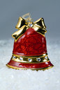 Christmas decoration red bell Stock Photos
